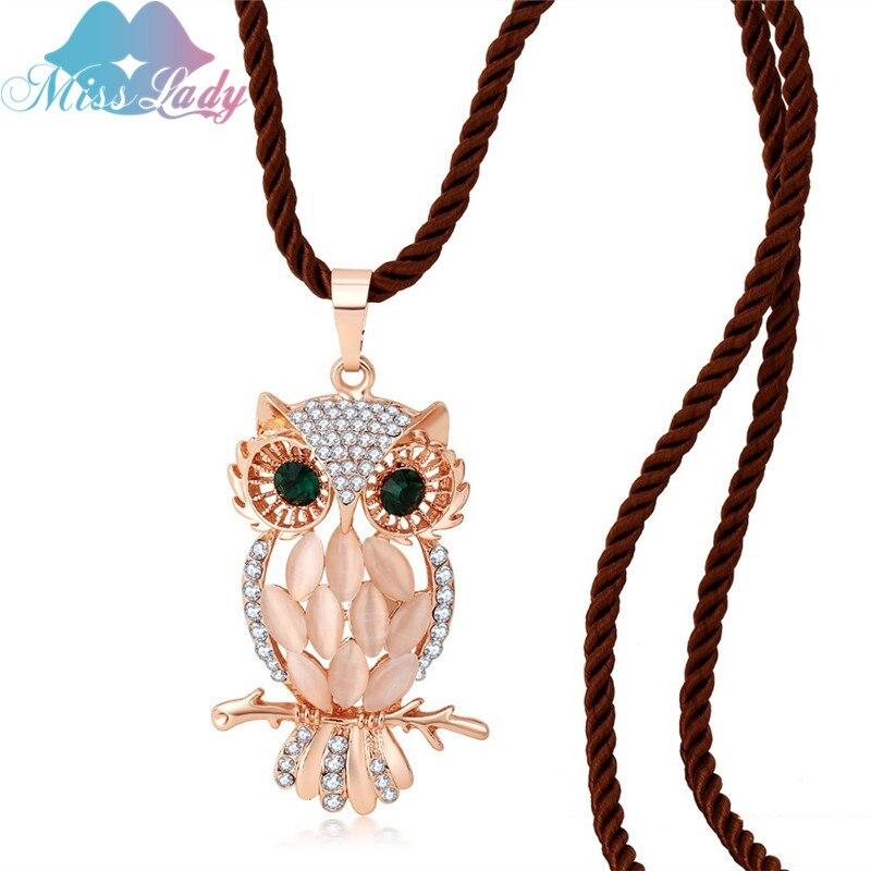 Miss Lady Maxi necklace Rose Gold color Crystal Vintage ...