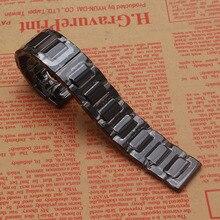 14 16 18 20 22 MM Noir Bracelet En Céramique regarder la bande sangles accessoires de Montres de mode Polonais Engins ajustement S2 S3 Classique Frontière HOMMES