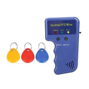 Image 5 - 125KHz EM4100 RFID Copier Writer Duplicator Programmer Reader + T5577 EM4305 Rewritable ID Keyfobs Tags Card 5200 Handheld