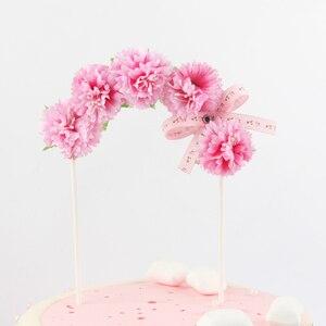 Image 5 - جميل زهرة bowknot قوس كعكة توبر كعكة عيد ميلاد الديكور استحمام الطفل الاطفال عيد ميلاد حفل زفاف لصالح لوازم