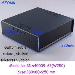 (1 pz) 280x80x250mm acciaio recinzione elettronica progetto scatola di ferro custodia scatola di metallo industriale caso diy scatola di ferro