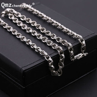 S925 Sterling Silver Retro Thai Silver Men Dragon Clasp Box Chain Clavicle Necklace Wholesale 925 Pure Silver Box Necklace