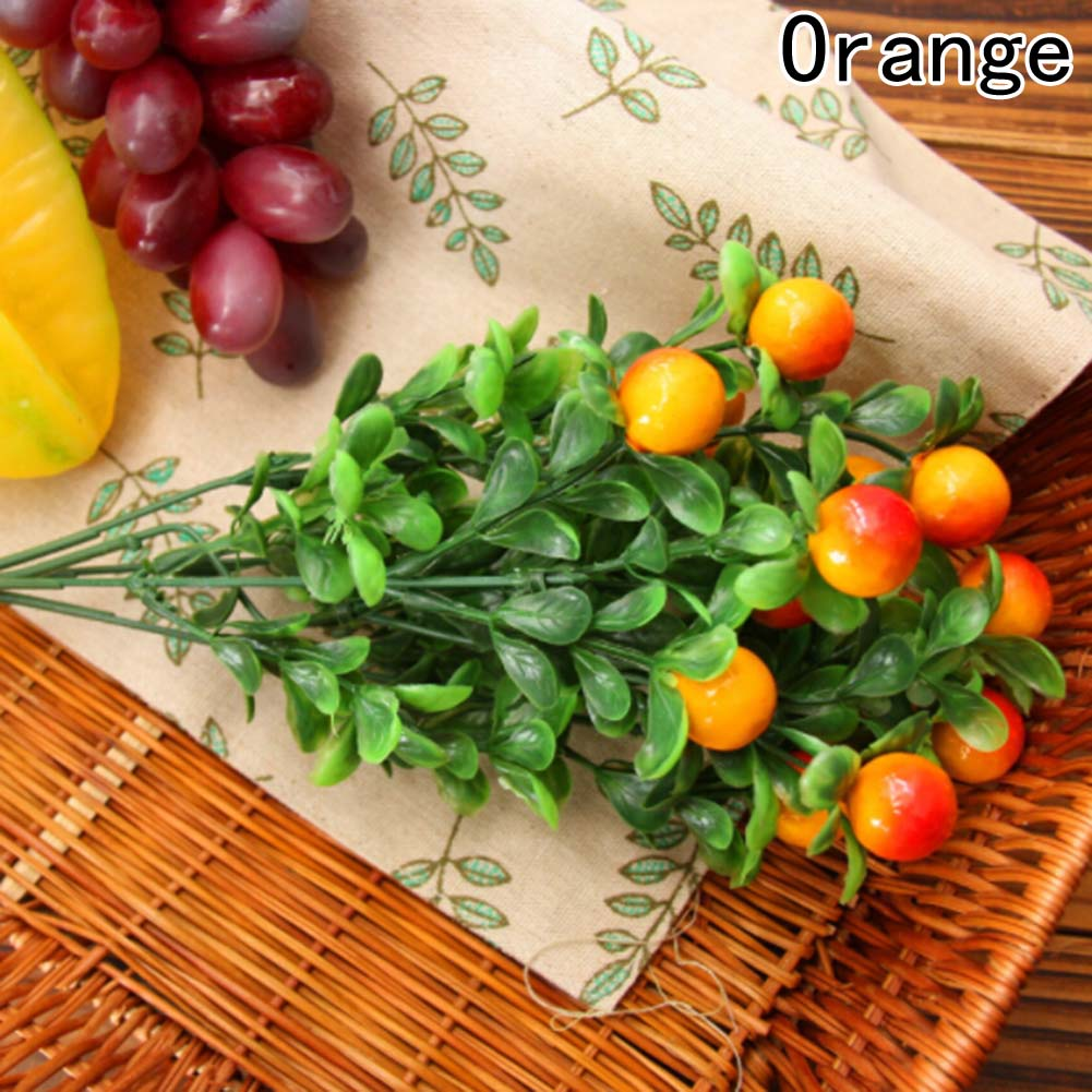 Cheap Artificial Rich Fruit With Green Leaf Simulation Fruit 3 Type Decoration For Home Hotel Table Accessories Artificial Decorations Artificial & Dried Flowers
