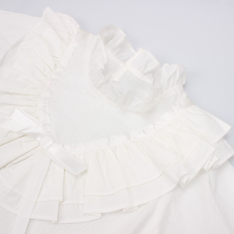 45-15-baby girl ruffles Solid blouses