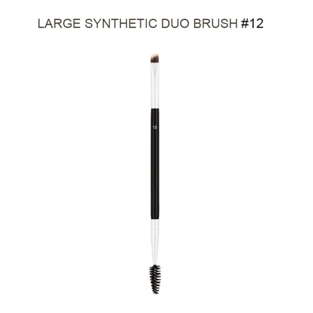 Professional Dual Sided Duo Brow Brush 12# 15# 7# 20# Eyebrow Enhancer Angled Eyebrow Brush + Comb Beauty Makeup Tool 1PCS 2