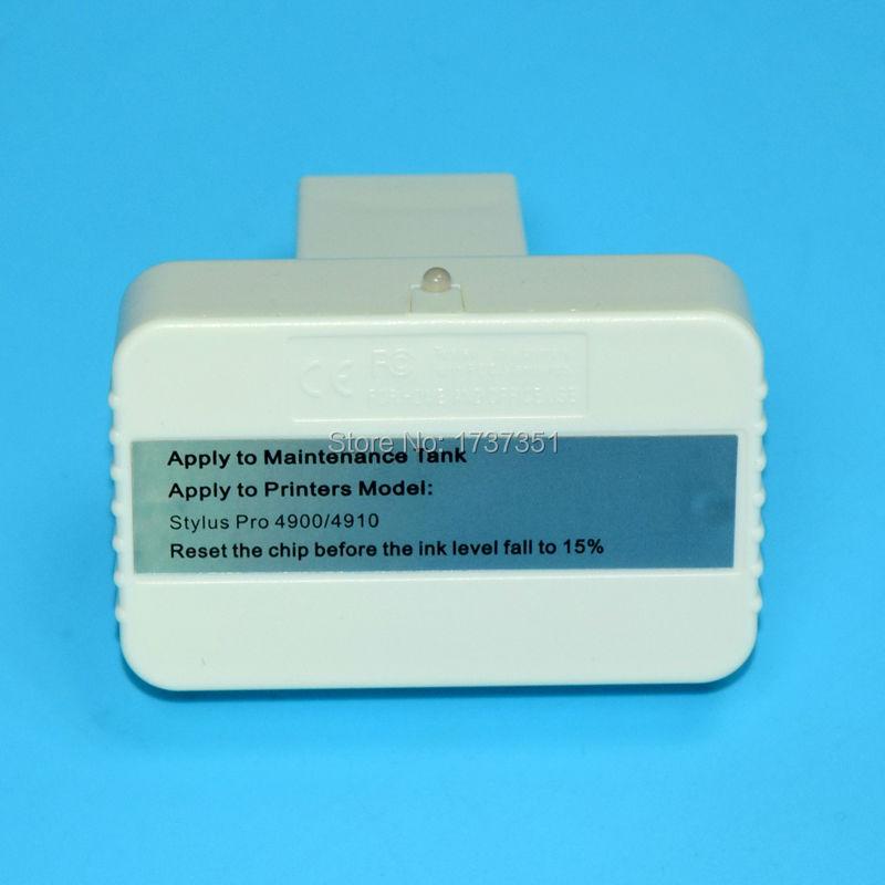 Chip resetter for maintenance box T6190 for Epson Stylus Pro 4900 printer vilaxh for epson p600 chip resetter for epson surecolor sc p600 printer t7601 t7609 cartridge resetter