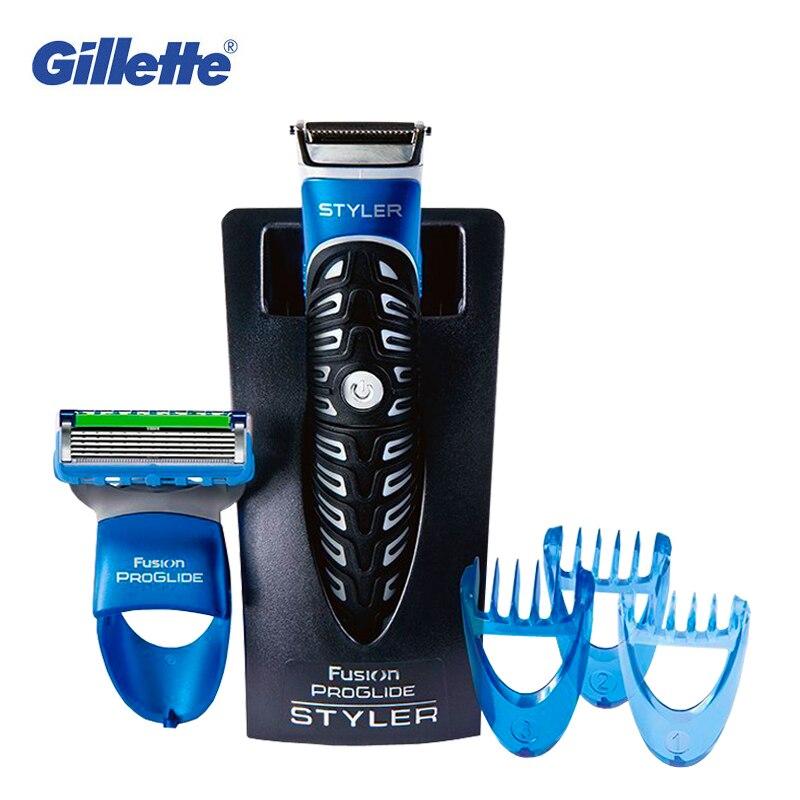 Gillette Styler 3 в 1 Мощность электробритва бритвы триммер для бороды окантовка Лезвия для мужчин волос бритья инструмент укладки водошт. непрони