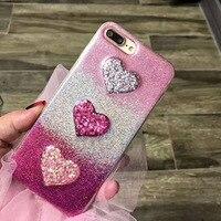 2017 New Fashion Love Heart Glitter Soft Tpu Case For Iphone 6 6s Plus 7 7