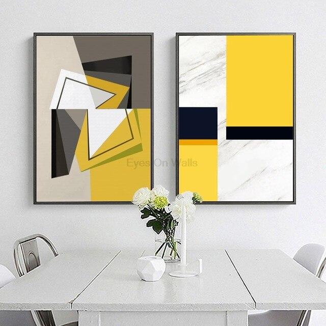 Online Shop No Frame Abstract Geometric Poster Scandinavian Canvas ...
