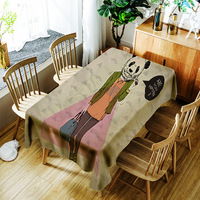 Panda Man Tablecloth Waterproof Oilcloth Decorative Table Cover Tapete Party Banquet Table Cover Dining
