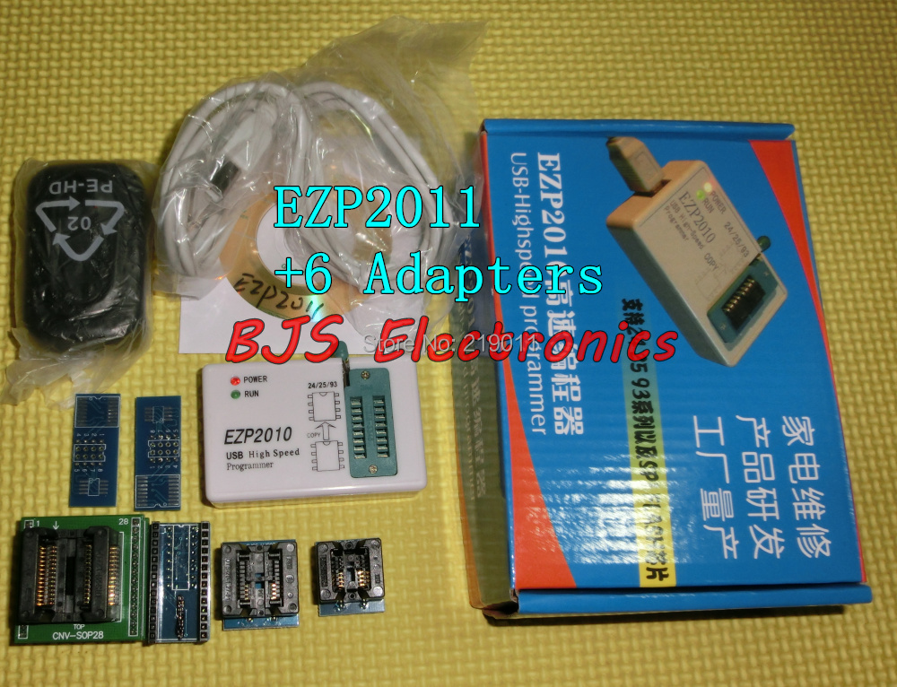 2014 Full set EZP2011 6 adapters updated EZP 2010 25T80 bios High Speed USB SPI Programmer