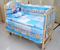 baby crib bedding set 5 pcs cotton material jogo de cama crib bumper included