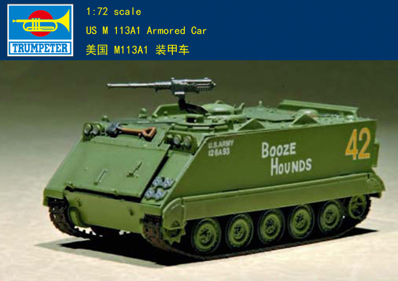 Trumpet  07238 1:72 M113A1 Armored Vehicle  Assembly Model