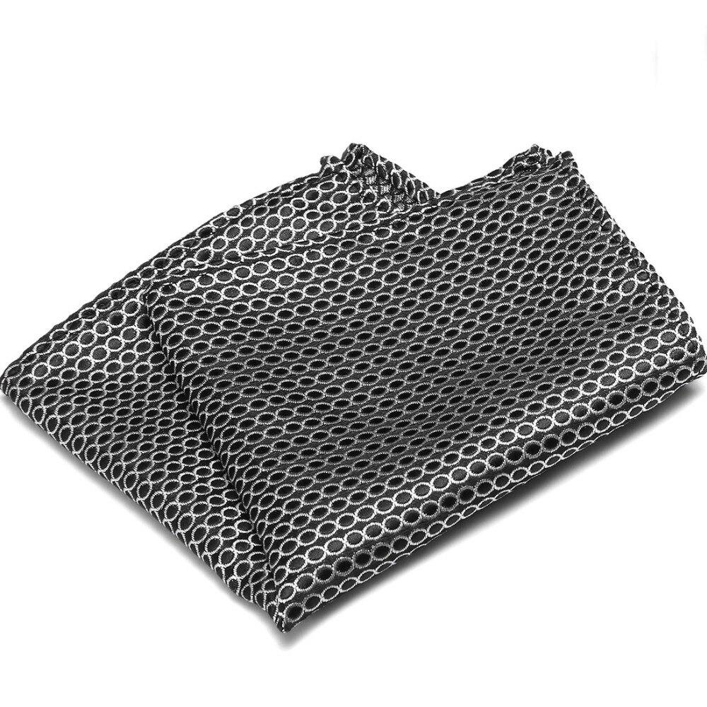 Blue& Black Paisley Men Fashion New Design Polyester Hanky Plaid Pocket Square Handkerchiefs For Men Suit Tie Handkerchief