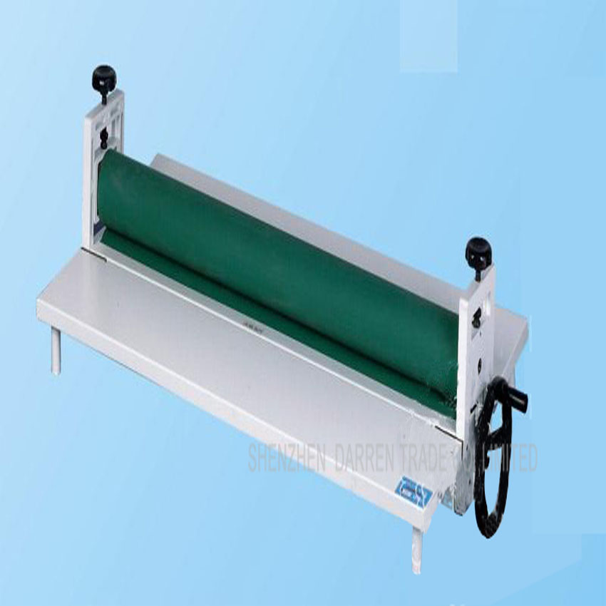 1pc NEW Heavy All Metal Frame 28 750MM Manual Laminating Machine Perfect Protect Cold Laminator power driven cold laminator motor