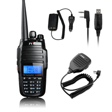 Original TYT TH-UV8000D 10W Transceiver Walkie Talkie Dual Band Two Way Radio+Baofeng Speaker+USB Programming Cable Car Charger