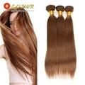 Brazilian Straight Hair 3 Bundles 7a Unprocessed Virgin Hair Bundle Deals 8-26inch Dark Brown Eli Queen Beauty Hair