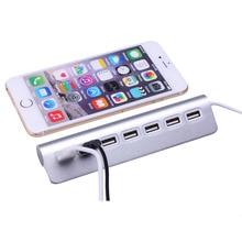High Speed Micro Mini Aluminum Alloy 7 Ports USB 2.0 Hub For Apple Mac PC Laptop Computer Peripherals Accessories