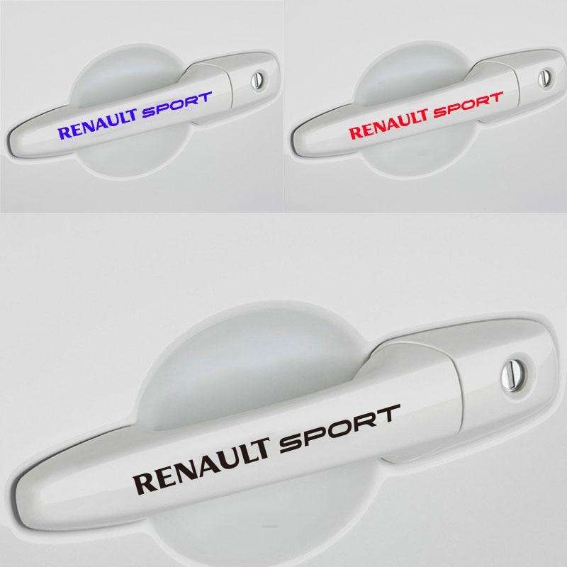 4pcs For RENAULT SPORT Decal Sticker Racing Car Door Handle Logo Emblem Performance Motorsport