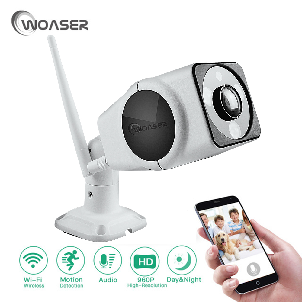 WOASER 360 degree HD 1.3MP FishEye IP Camera Full View Outdoor Waterproof 1280X960 Network Home Security WiFi Camera Panoramic wifi ip camera 360 degree full fisheye view 720p wifi network home security wireless camera