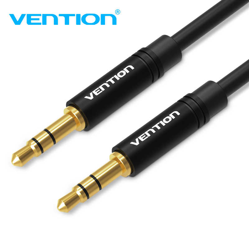Vention 3.5Mm Jack Kabel Audio 3.5 Male Ke Male Kabel Audio 90 Derajat Sudut Kanan AUX Kabel untuk Mobil headphone MP3/4 Aux Cord 5 M