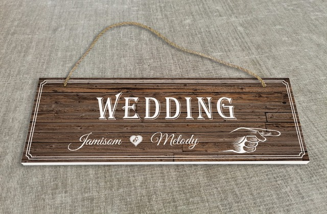 Personalized Outdoor Wedding Reception Ceremony Decoration