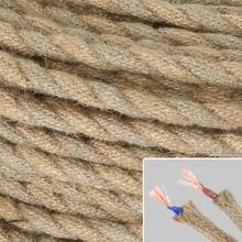 Cable eléctrico de cuerda trenzada Vintage para lámpara de techo edison perfecto para decoración del hogar