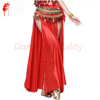 New Belly Dance Costumes Sexy Senior Satin Spilt Belly Dance Big Skirt For Women Belly Dancing