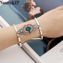 Naomy&ZP Bracelets & Bangles Indian Vintage Bangles Cuff Bracelet For Women Crystal Bohemian Boho Fashion Jewelry Femme