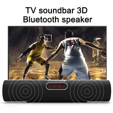 Wireless bluetooth soundbar 3D stereo bluetooth speaker Bass Hifi Home Theater TV Sound Bar box for PC Theater TV Radio Column bluetooth speaker tv soundbar 4 driver home theater stereo heavy bass tf card n s09 wall mounted speaker smart home soundbar new