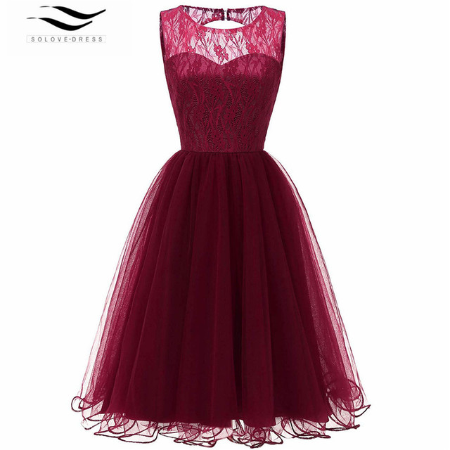 Christmas Evening Dresses.Womens 50s Evening Dresses Christmas Party Vintage Retro Prom Evening Lace Sleeveless Formal Dress Women Elegant Black Purple