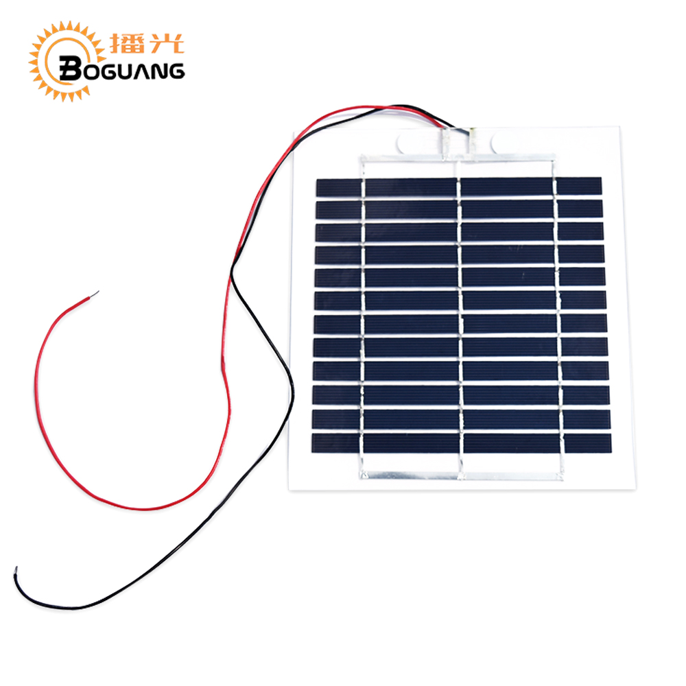BOGUANG 6V 3W 500mA poly cell flexible transparency pet solar panel for charger use for diy kits toys portable light thin type