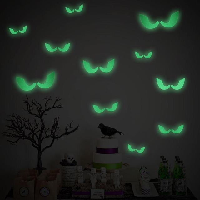 Bestoyard Kreatywny Naklejki Scienne Happy Halloween Fluorescencyjne