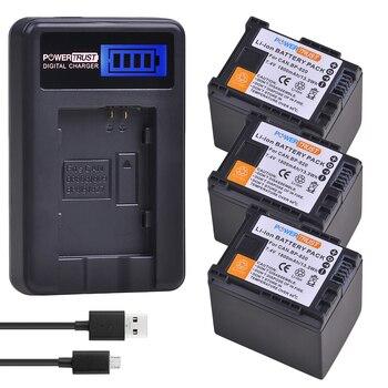 3Pcs BP-820 BP820 BP 820 Battery and LCD USB Charger for Canon VIXIA GX10, HFG20, HF G21, HFG30, HFG40, HFM30, HFM31, HFM32,