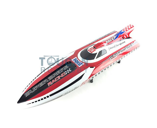 """G30H KIT 54"""" Well Painted Fiber Glass RC Boat Hull Only for Advanced Player RED"""