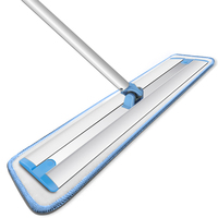 Hand Wash Free Flat Mop No Bend Down Wet/dry Dual Use Rotating Cleaning Pad Efficient Durable Aluminum Alloy