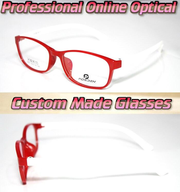 Rojo blanco pierna marco óptico de lentes ópticas gafas de lectura 1 ...