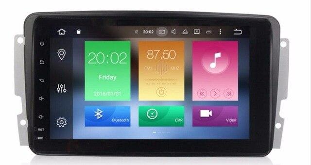OTOJETA android 8.0 voiture lecteur multimédia pour Mercedes Benz W209 W203 W168 M ML W163 W463 Viano W639 Vito Vaneo radio stéréo GPS
