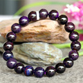 Wholesale Genuine Natural Dark Purple Blue Sugilite Stretch Finish Bracelet Round beads 9.5mm 03767