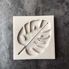 Silicone Mold Monstera Leave Fondant Cake Decoration Hand Made Decorating Leaves Chocolate Candy Silica Gel