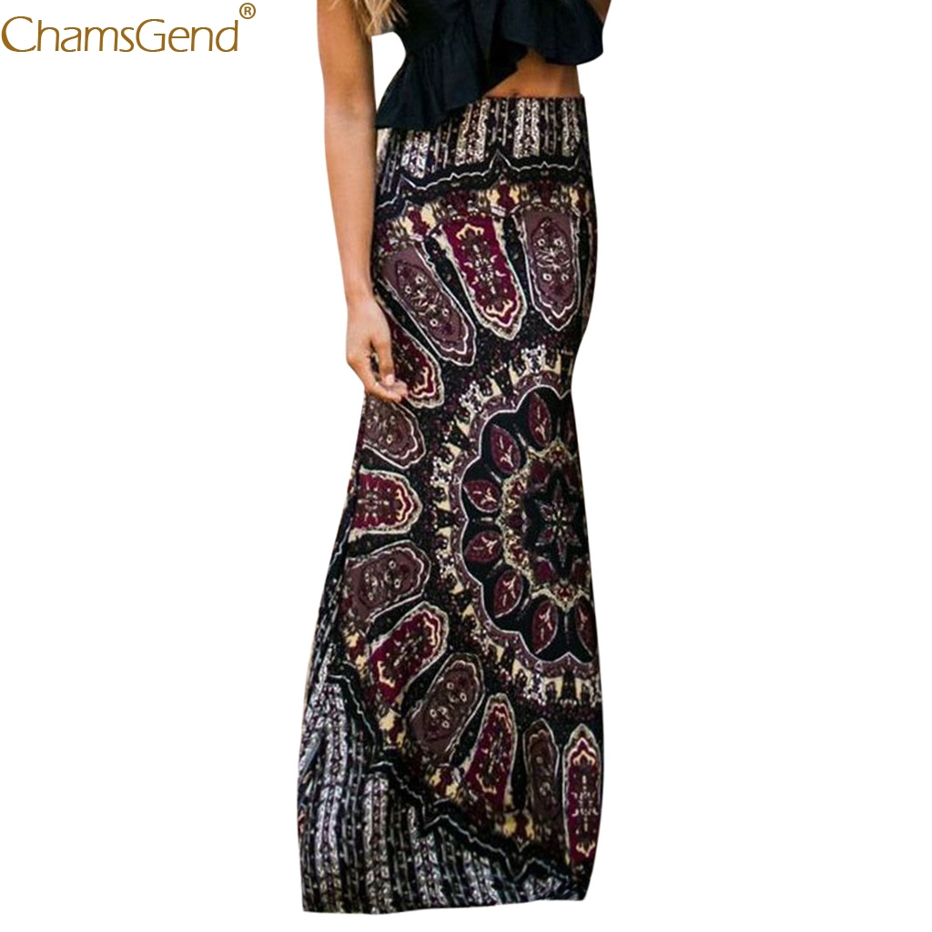 Black skirts womens Bohemian skirts womens plus size long skirts for women elegant Summer Long Casual Retro Boho Floral Mar14