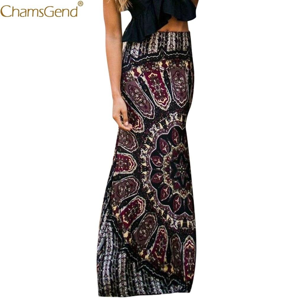 Black skirts womens Bohemian skirts womens plus size long skirts for women elegant Summer Long Casual Retro Boho Floral Mar14