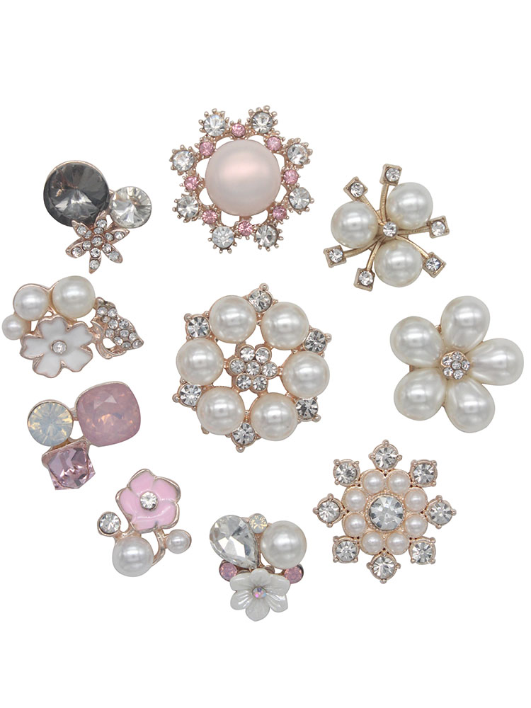 100x Assorted Heart Pearl Resin Charms Embellishment for Jewelry Making 11mm