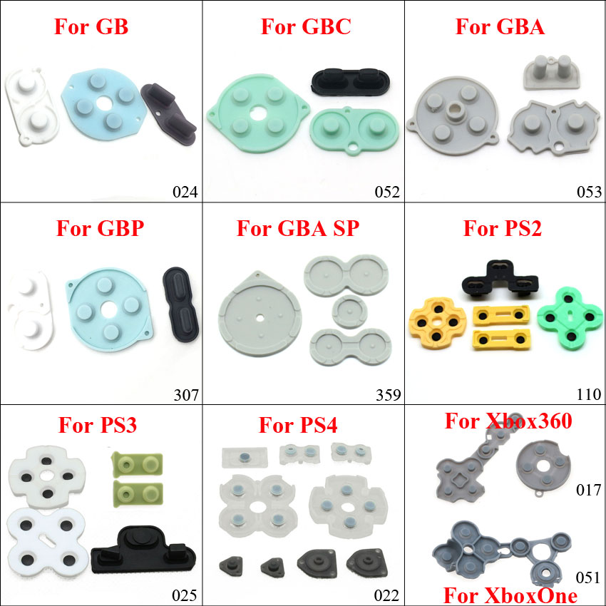 YuXi Conductive Rubber Contact Pad Button A-B D-pad for Xbox 360 One GB GBC GBA GBP ps2 ps3 ps4 Controllers Replacement part(China)