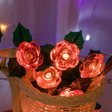 Novelty Flower Rose LED Light String Fairy Lights Night Light Valentine's Day Wedding Party Home Decorations valentine s day rose confession present led night light