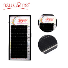 NEWCOME 12Rows Individual Eyelashes Extension Mink Individual Fake False Eyelashes Natural Lashes Extension for Professionals
