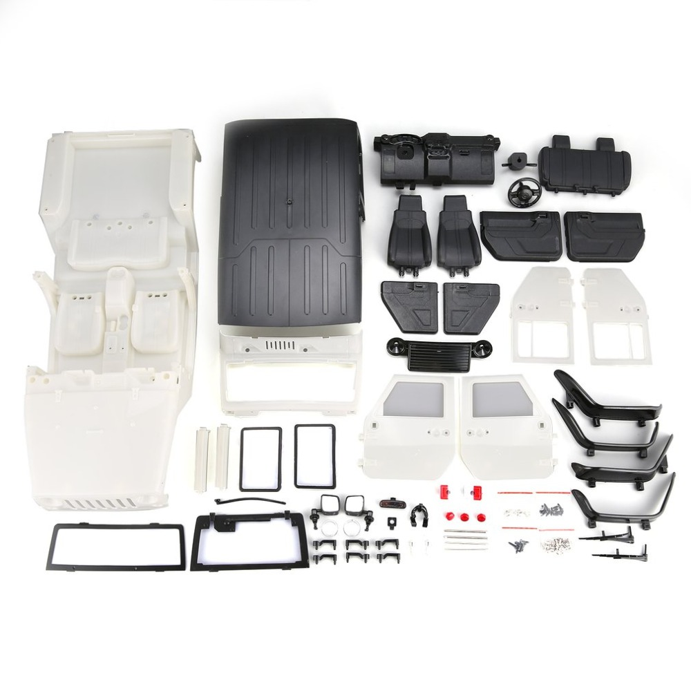 Unassembled Hard Plastic Car Shell Body DIY Kit for 313mm Wheelbase 1/10 Wrangler Jeep Axial SCX10 RC Car Crawler VehicleUnassembled Hard Plastic Car Shell Body DIY Kit for 313mm Wheelbase 1/10 Wrangler Jeep Axial SCX10 RC Car Crawler Vehicle