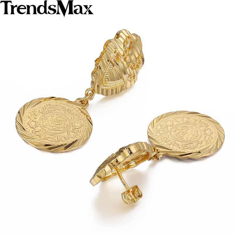 trendsmax 20mm shiny womens yellow gold filled