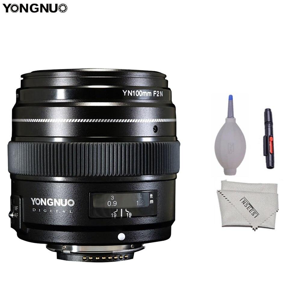 Yongnuo 100mm F2 Lentille Grande Ouverture AF/MF Moyen Tele Premier Printemps Macro YN100mm Objectif pour Nikon D7200 d7100 D7000 Caméra