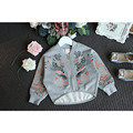2016 new boys and girls sweater embroidered cardigan jacket zipper